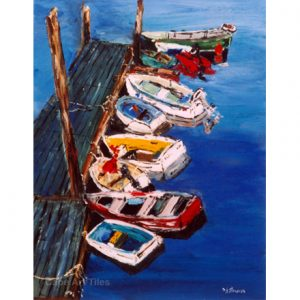 Boats in Waiting Tile