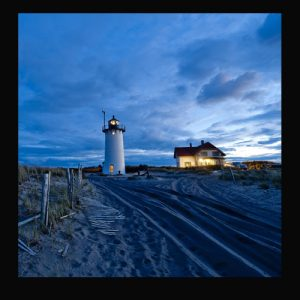 Blue Lighthouse Trivet