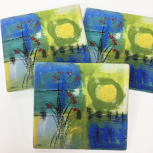 Bouquet Sandstone Coasters