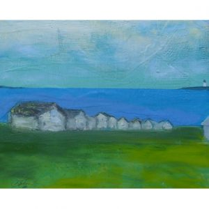 Cottages and Lighthouse Cutting Board